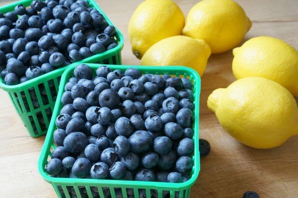 blueberries and lemons