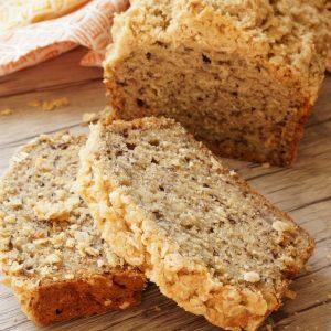 Oatmeal banana bread - Simple and delicious breakfast recipe for a kid friendly breakfast. | Breakfast Recipe | Banana Bread |