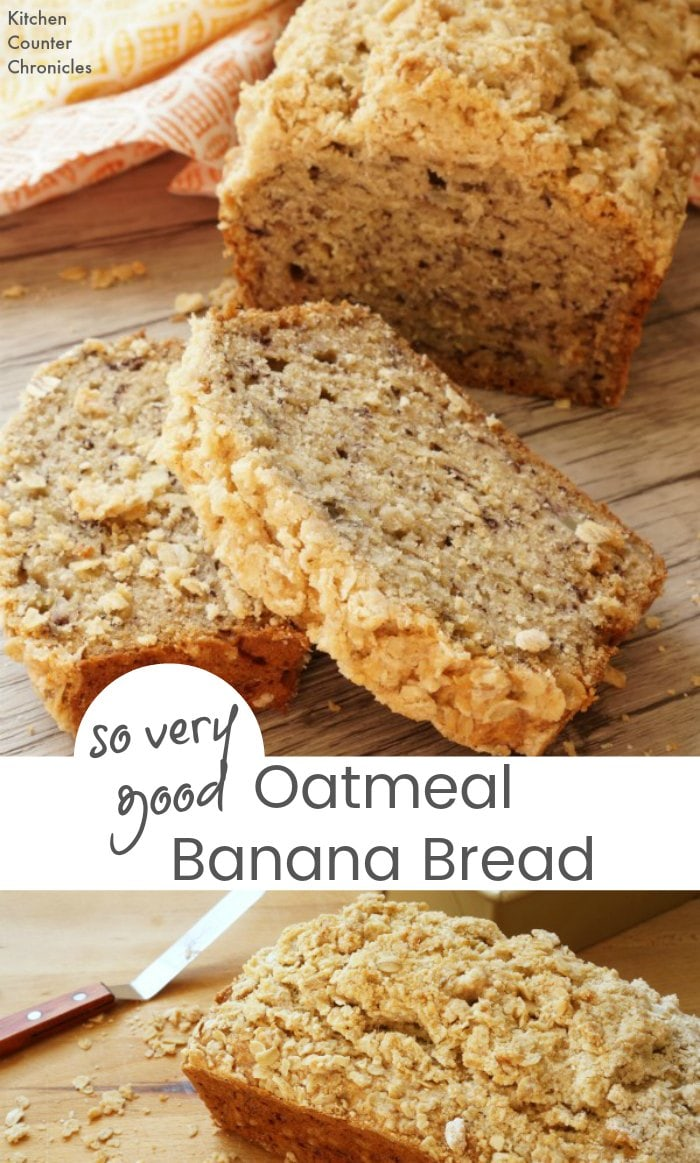 So Very Good Oatmeal Banana Bread - Breakfast can be quick, easy and delicious with this oatmeal banana bread. | Family Recipes | Breakfast Recipes | Banana Bread Recipe |