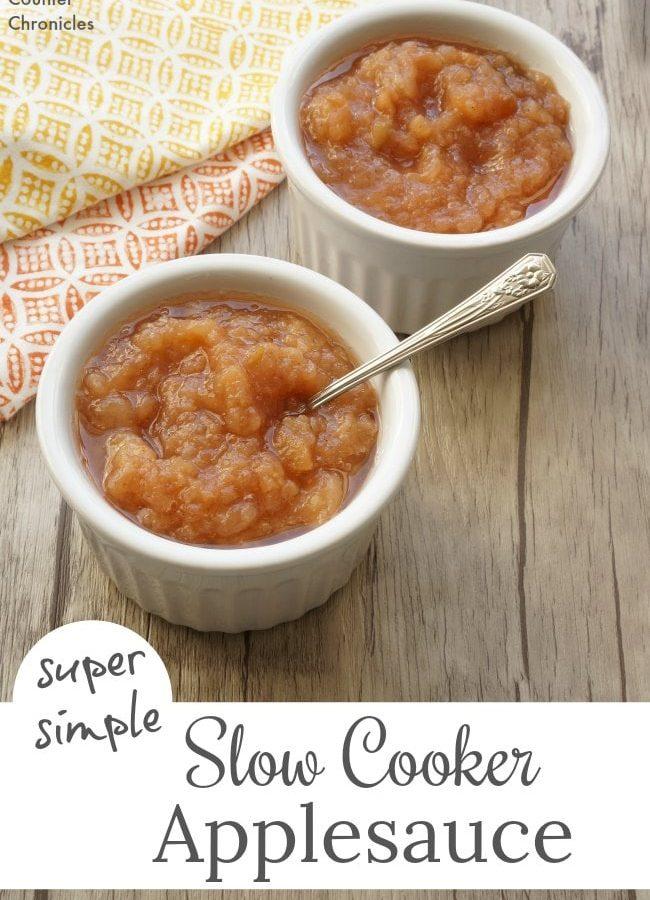 Super Simple Slow Cooker Applesauce