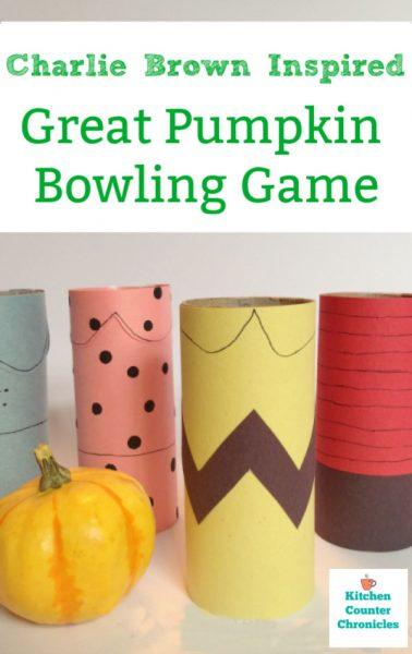 charlie brown pumpkin bowling game