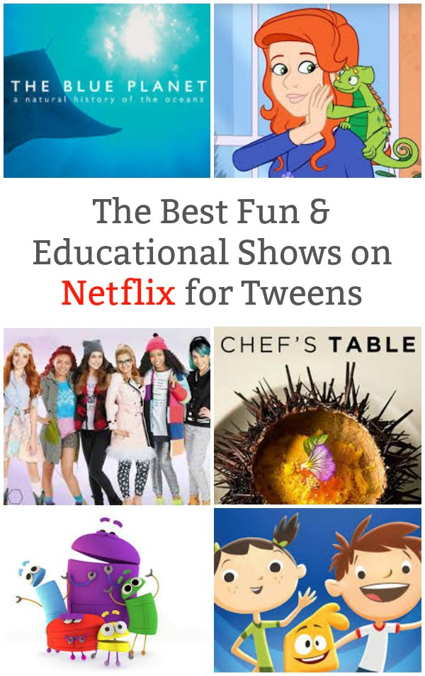 The Best Fun and Educational Shows on Netflix for Tweens - Expand your kids learning with these educational shows on Netflix. | TV Shows for Tweens | Educational Programs for Kids | Tween Activity |