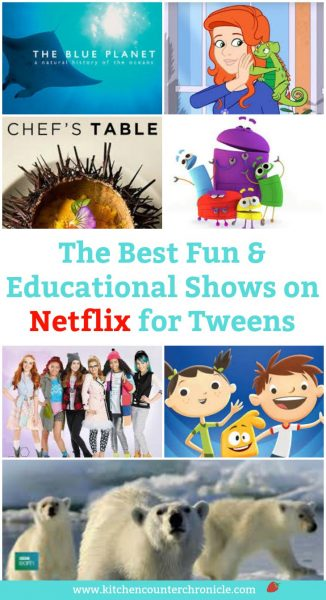 The Best Fun and Educations Shows on Netflix for Tweens - A round up of kid approved educational shows.
