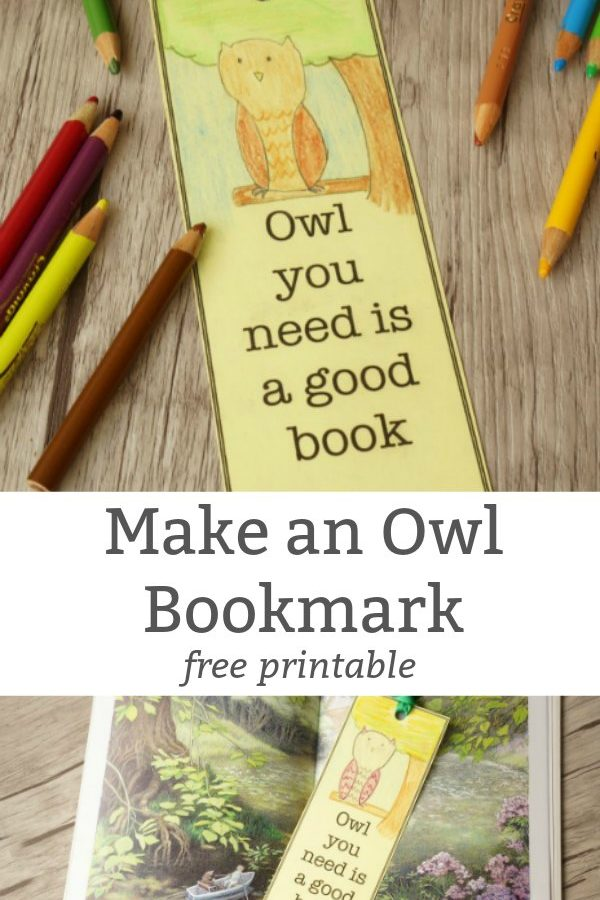 Make an Owl Bookmark – Free Printable