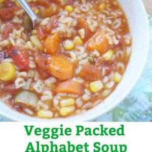 homemade vegetable alphabet soup