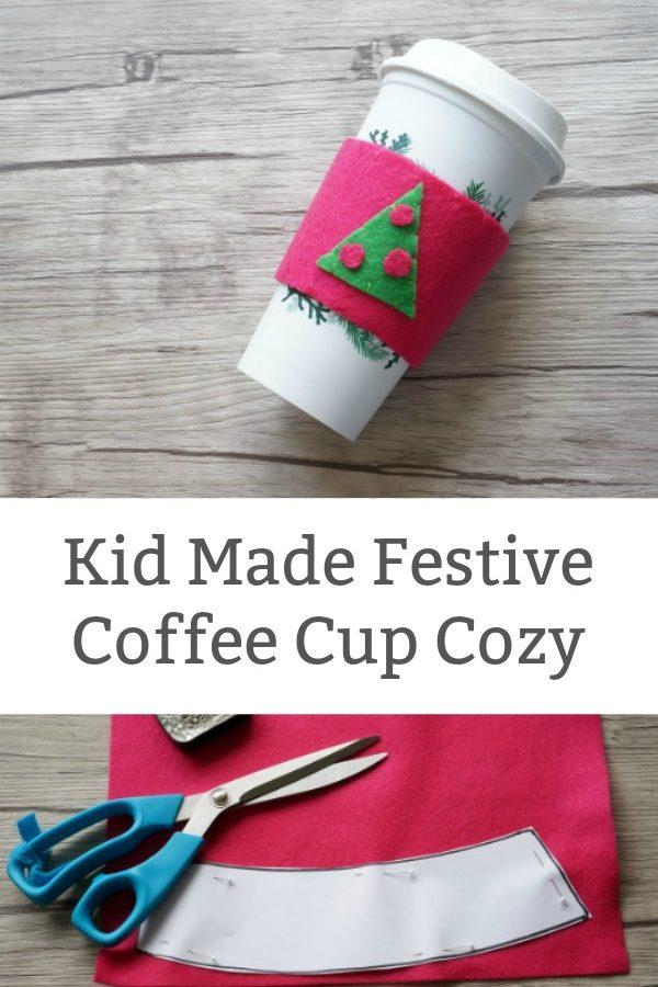 Kid Made Felt Coffee Cup Cozy