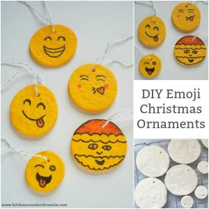 diy emoji christmas ornaments