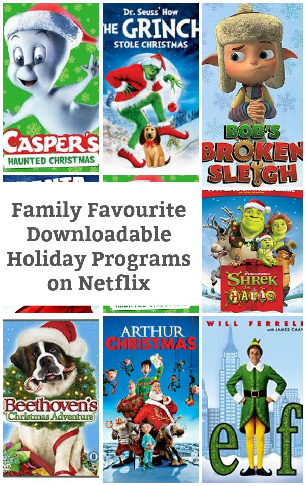 Family Favourite Downloadable Holiday Programs on Netflix - We've gathered up all the best Holiday Programs on Netflix Right Now. Download these shows and take the stress out of holiday travel. | #netflix #streamteam #holidaymovies #family movies