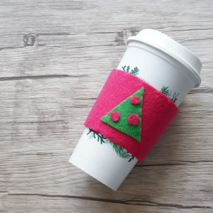 how to sew a felt coffee cup cozy social