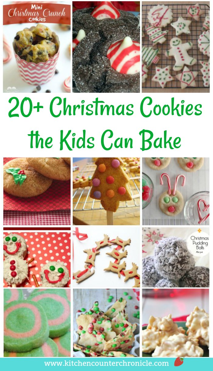 Christmas Cookies Kids Can Bake - A fun collection of Christmas cookies that the kids can bake. Bake up some memories this holiday season. #christmascookies #christmaswithkids #cookierecipes #christmasrecipe