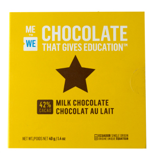 Me to We chocolate