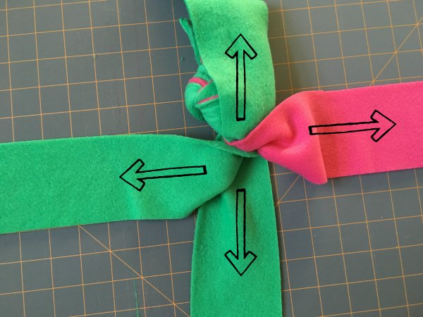 dog pull toy fleece cross