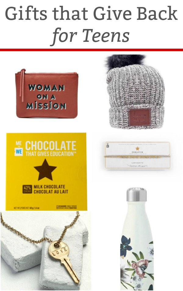 Gifts that Give Back for Teens - These gift ideas make shopping for teens easy. Gifts that have a positive impact on the world around us. | #giftguide #teengiftguide #giftsthatgiveback #giftguidekids #tweengiftguide