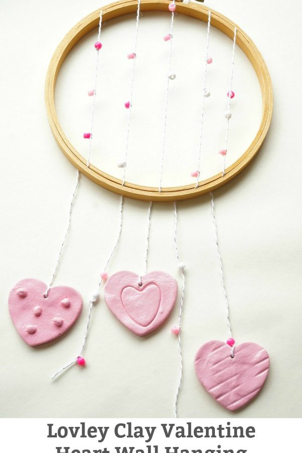 DIY Clay Valentine Heart Wall Hanging