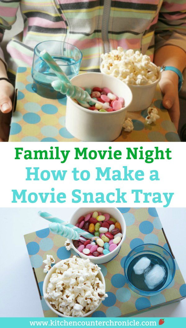 How to Make a Movie Snack Tray - snack filled tray