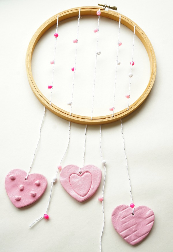 clay heart wall hanging final
