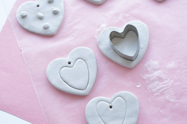 cookie cutter heart impression