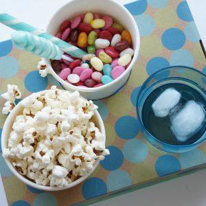 DIY movie snack tray social