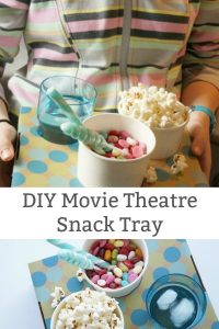 How to Make a Movie Theatre Snack Tray - tray filled with candies
