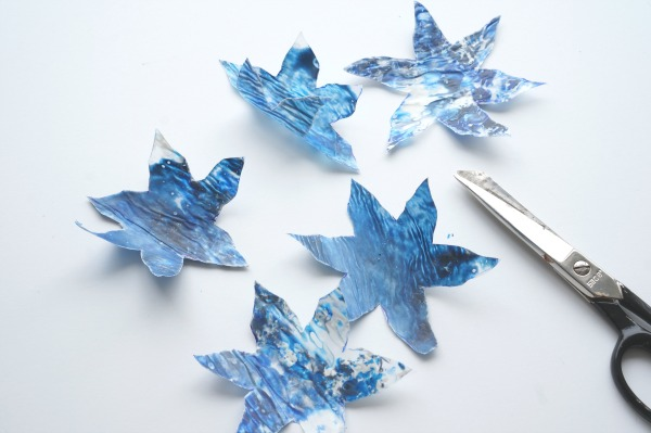 melted crayon snowflakes cut out