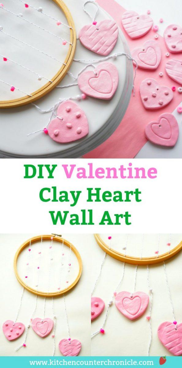 Valentine Clay Heart Wall Art