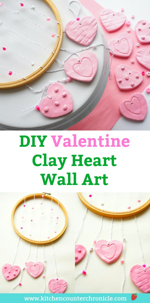 Make a lovely heart wall art for someone special - perfect for Valentine's Day, a nursery or a child's bedroom. #hearts #artproject #forbaby #fornursery #boho #bohowallart #diyart #ValentinesDayCraft #ValentinesDay
