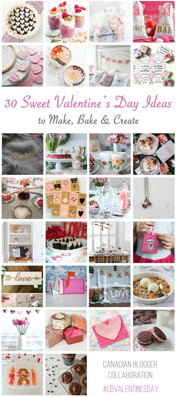 30 Valentine Crafts, recipes and art blog hop
