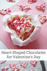 Simple Heart Shaped Chocolates for Valentine's Day