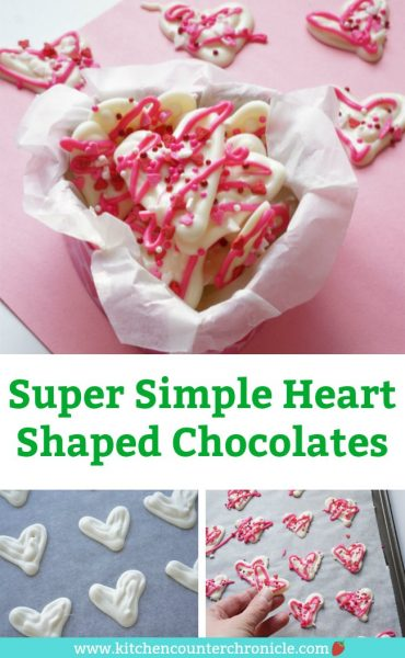 Simple Heart Shaped Chocolates - white chocolate hearts in tin