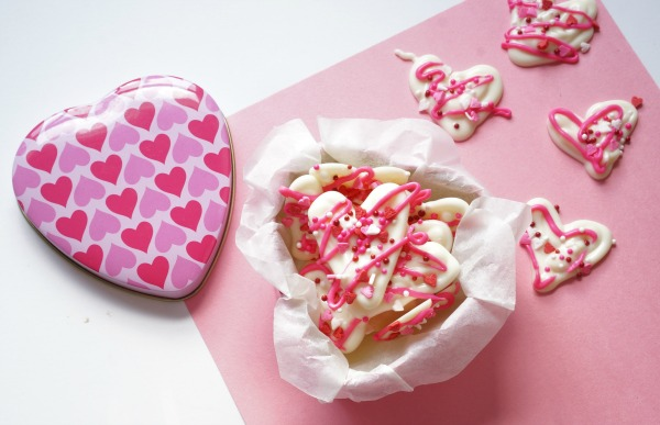 heart shaped chocolates in tin