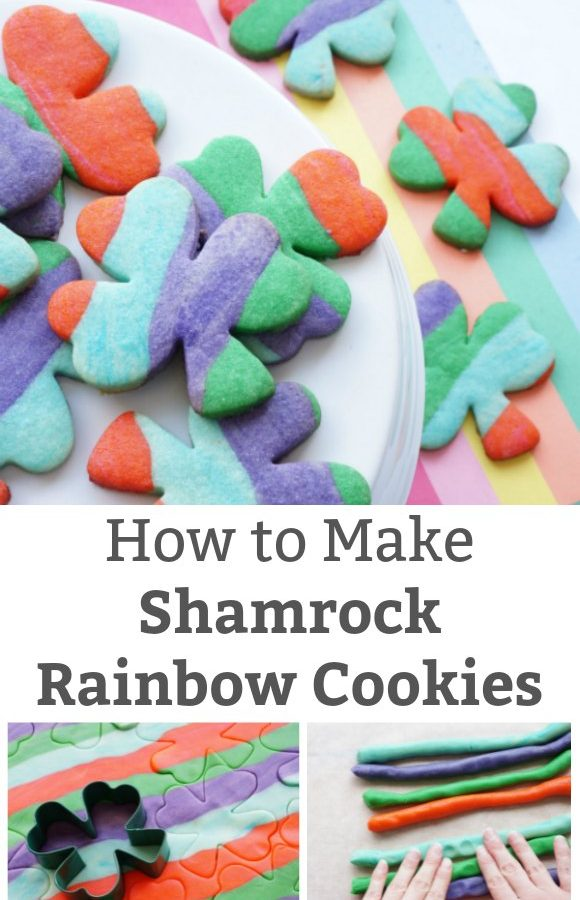 how to make shamrock rainbow cookies