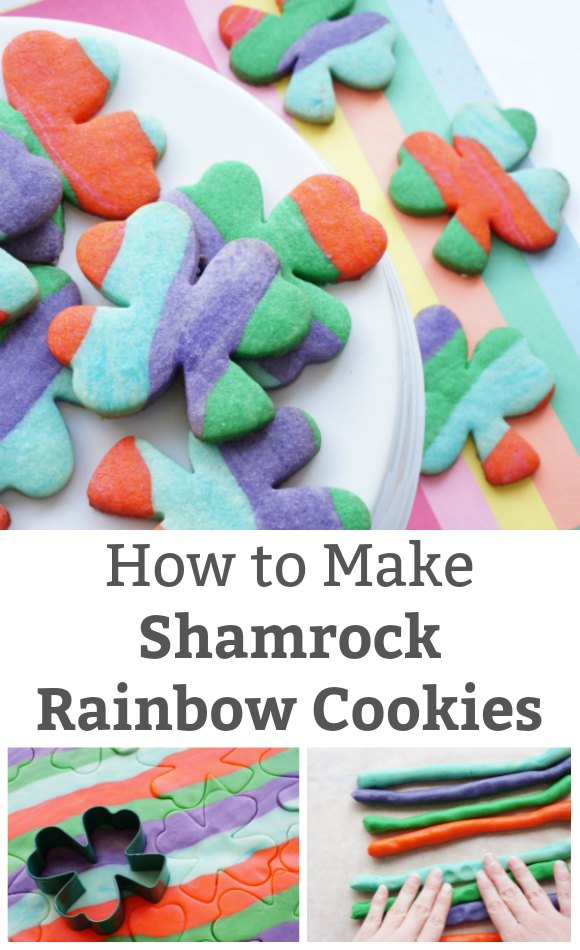 shamrock rainbow sugar cookies recipe