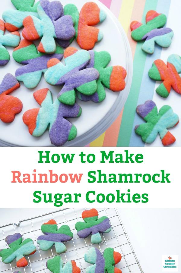 rainbow shamrock cookies sugar cookies