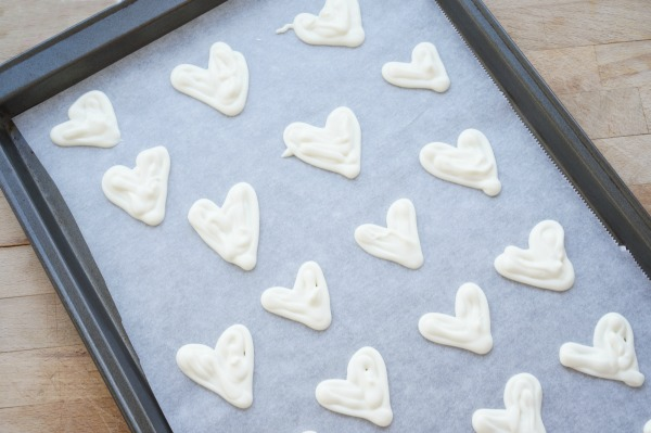 white chocolate heart shaped chocolates