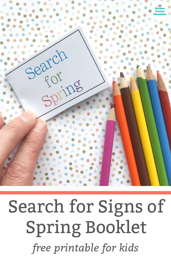 search for spring booklet printable for kids