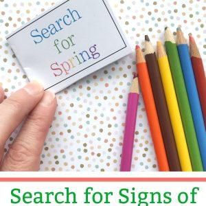 spring scavenger hunt printable booklet