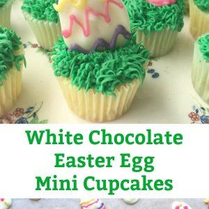 white chocolate easter egg mini cupcake