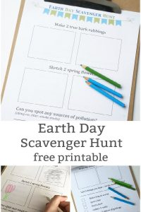 Earth Day Scavenger Hunt Free Printable