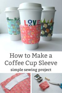 how to make coffee cup sleeve