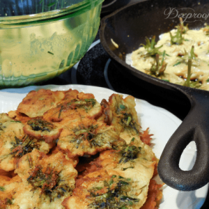 dandelion fritter recipe