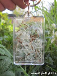 dandelion wish key chain