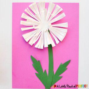 paper plate dandelion craft