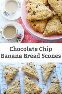 chocolate chip banana bread scone