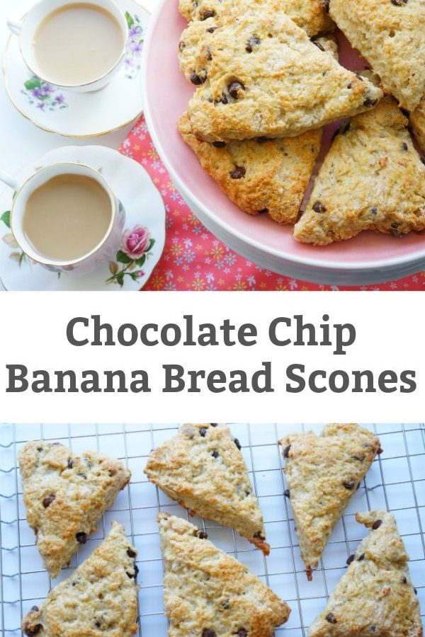 chocolate chip banana bread scone