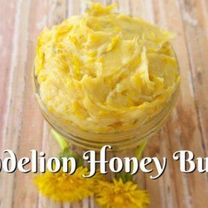 dandelion honey butter