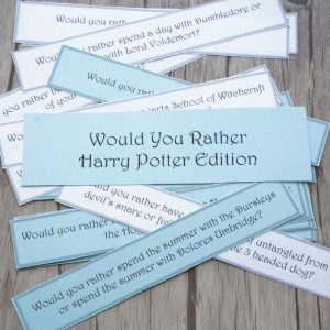 would you rather harry potter edition