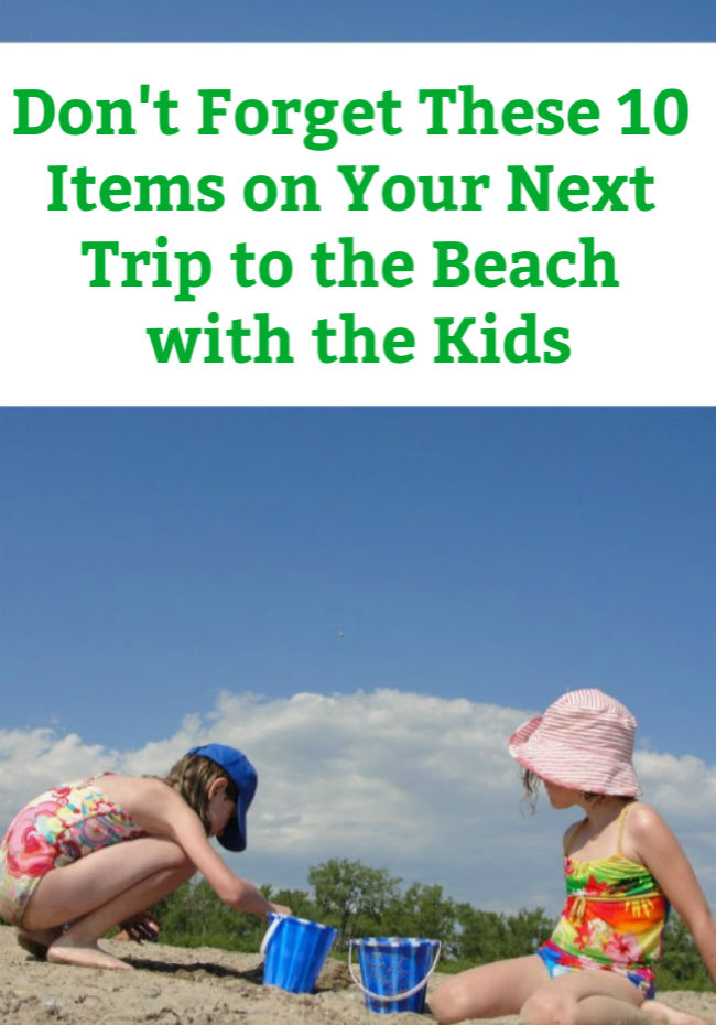 things to bring to the beach with kids