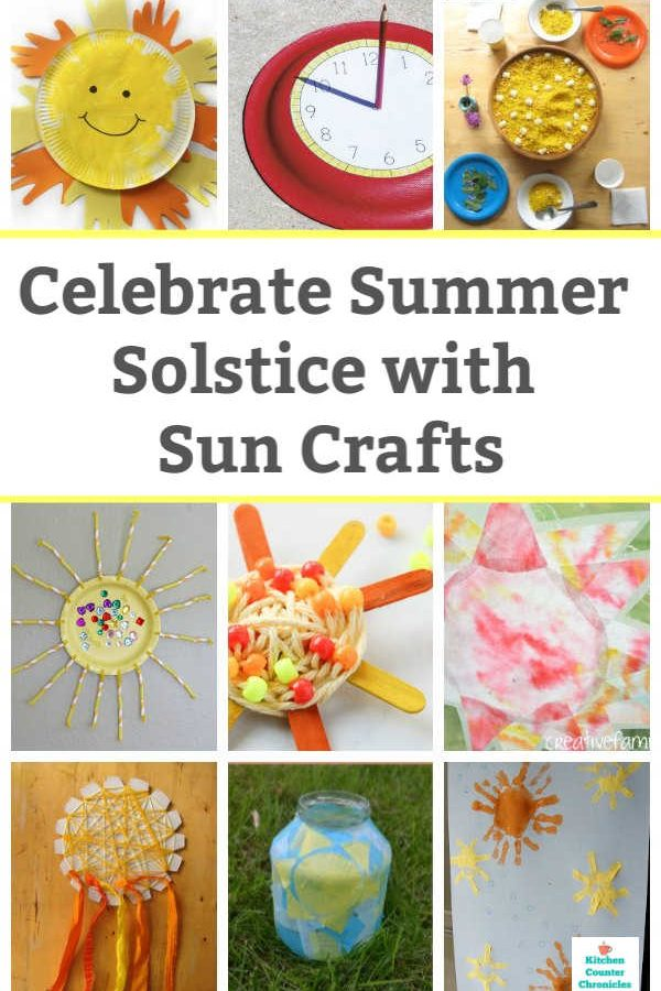 summer solstice sun crafts for kids featured image