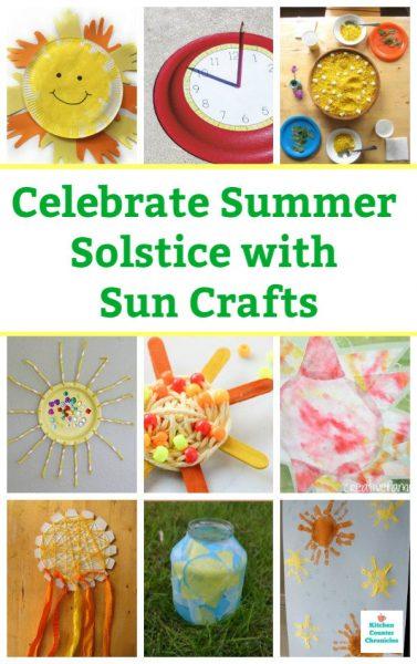 summer solstice sun crafts for kids