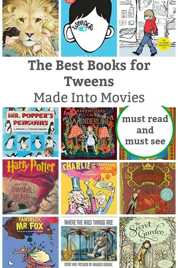 best tween books made into movies
